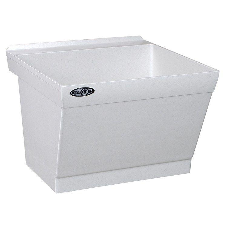 Utilatub Durastone 23 W X 23 1 2 D Wall Mount Laundry Utility Tub