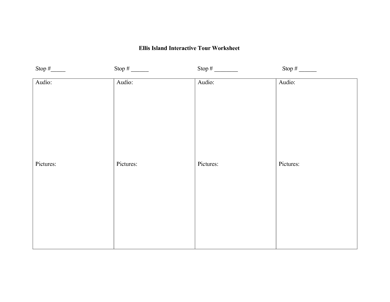Statue Of Liberty Activities Worksheets