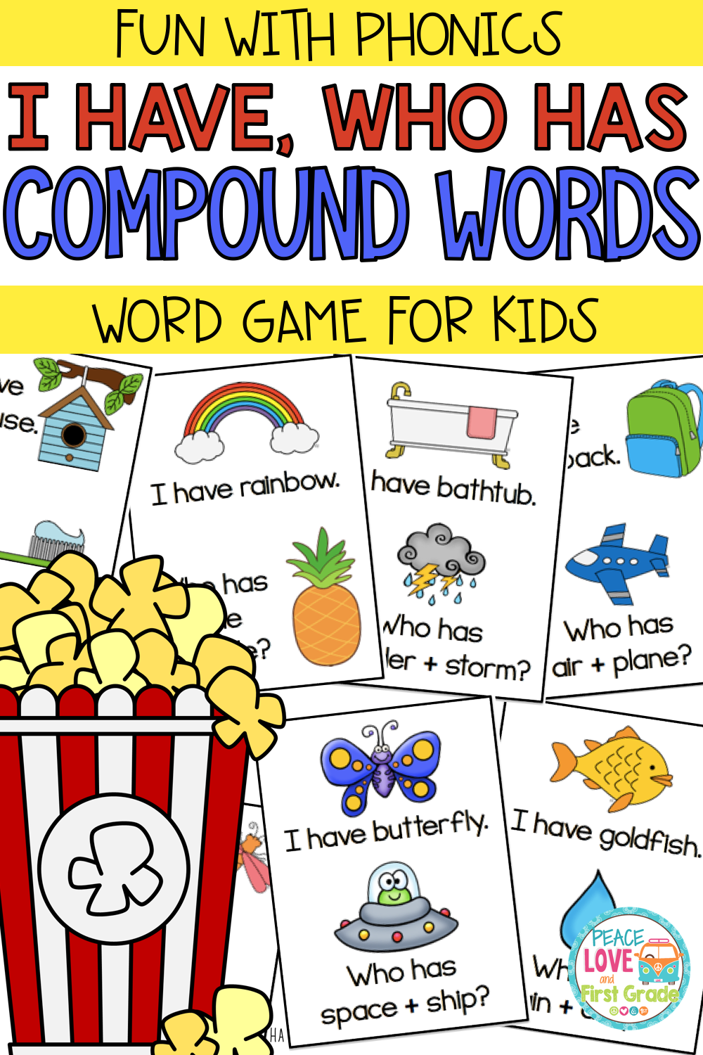 Compound Words Compound Words Word Games For Kids First Grade Reading [ 1500 x 1000 Pixel ]