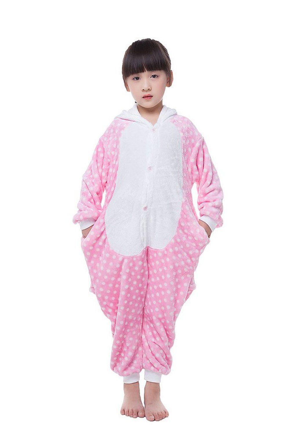 Robot Check Pink Hello Kitty Onesie Pajamas Kids Costumes