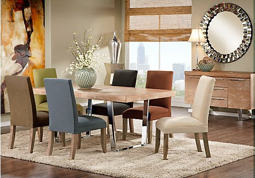 Shop for a Cindy Crawford Home San Francisco Ash 5 Pc Dining Room w  CurryChairs at. Shop for a Cindy Crawford Home San Francisco Ash 5 Pc Dining Room