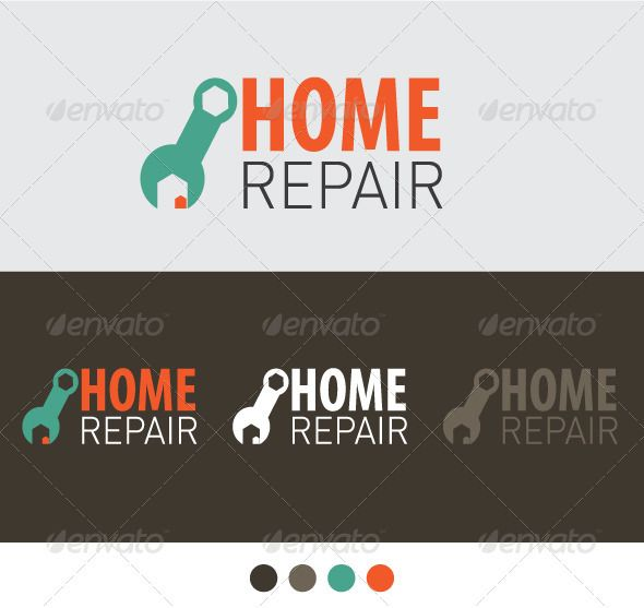 Home Repair  Flyer Template Fonts And Logos