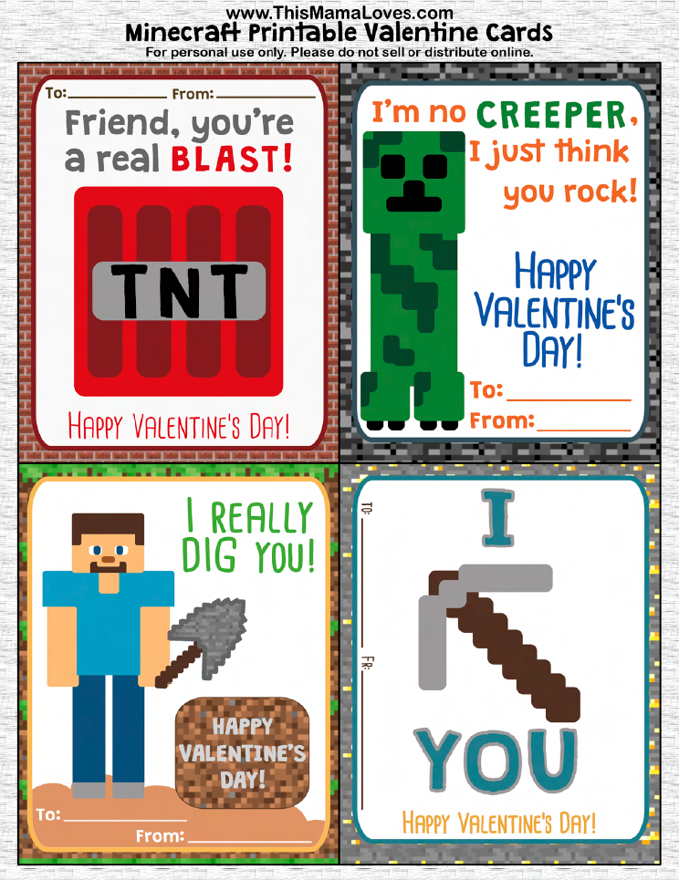 Clever Printable Valentines Youll Go Crazy For – Online Printable Valentine Cards