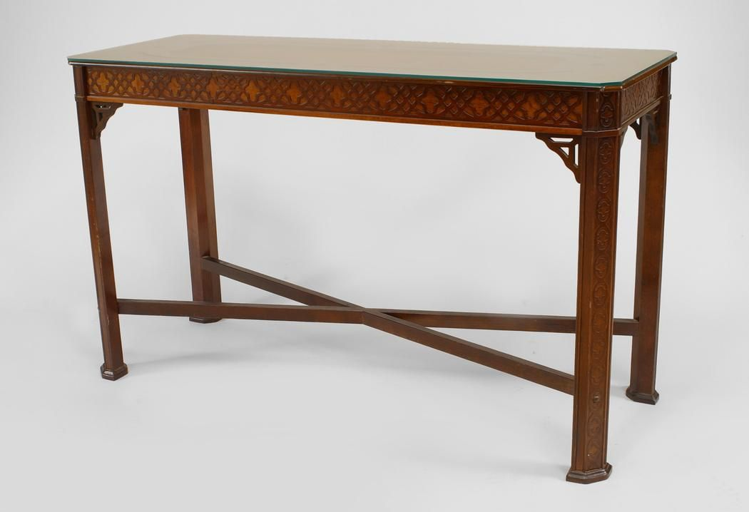 English Chinese Chippendale table console table mahogany Chinese