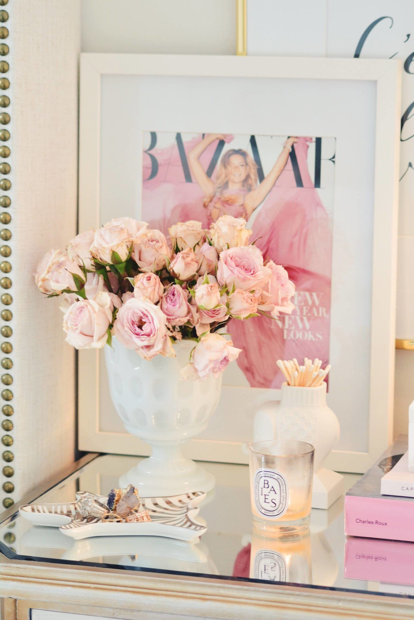 Spring Decor Ideas: Bedroom Tour  - The Pink Dream