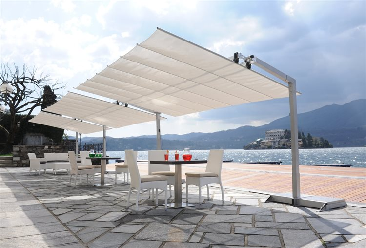 Fim Flexy Aluminum 8 X 12 Rectangular Offset Umbrella Patio