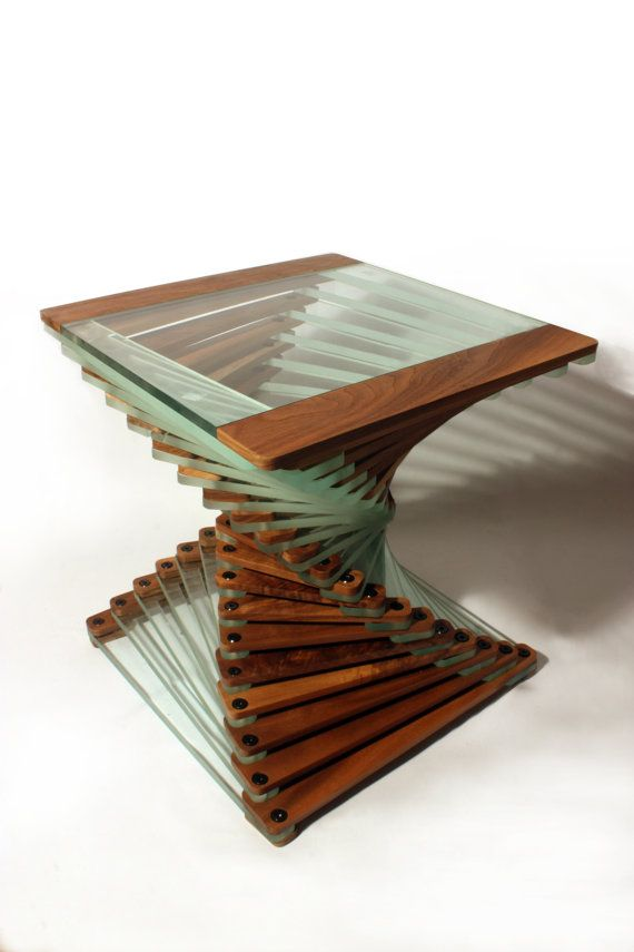 A Stunning Solid Wood Modern Designer Coffee Table Occasional Table End Table Made From Walnut And Glass Walnut Coffee Table Coffee Table Design Walnut Coffee Table Modern