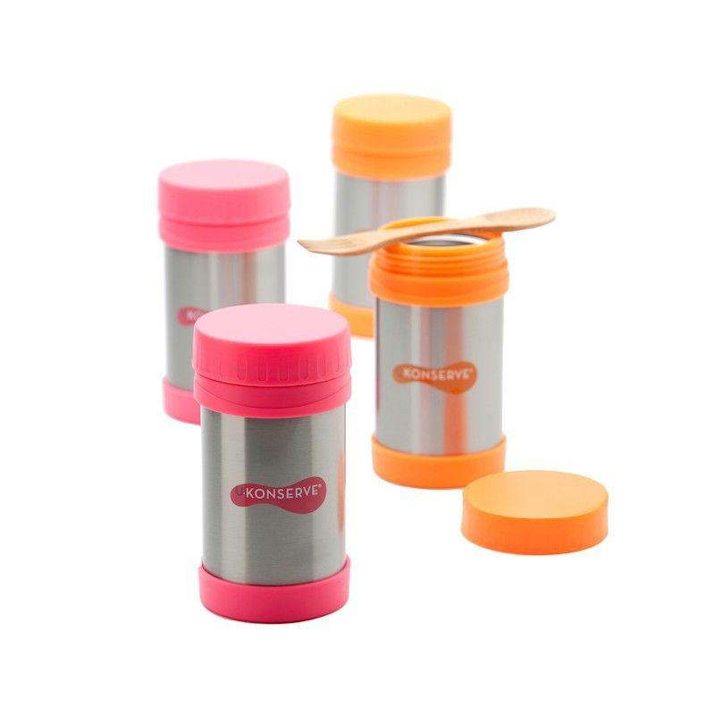 Lekdichte thermos Foodjar U-Konserve - neon roze