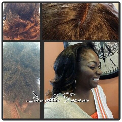 Sew in using CASHMERE ' s Own Brand Of virgin Remy Indian body wave hair. Custom ombre and 3 part lace closure was used  (also sold by Cashmere Hair Studio) Call me now for an appointment 314-304-5946 or www.cashmere. com