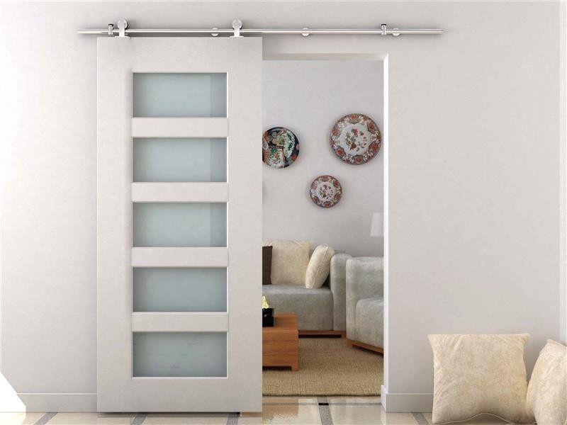 Homcom modern 6 6 39 interior sliding barn door kit hardware - Modern interior barn doors ...