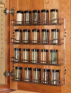 Hafele Kitchen Cabinet Door Mounted Steel Wire Spice Racks #kitchensource  #pinterest #followerfind