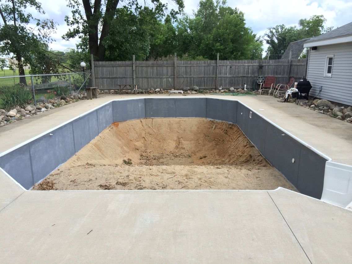 Old Pool Without Liner Patios To Replace Inground Pool Pinterest Diy Swimming Pool Ground