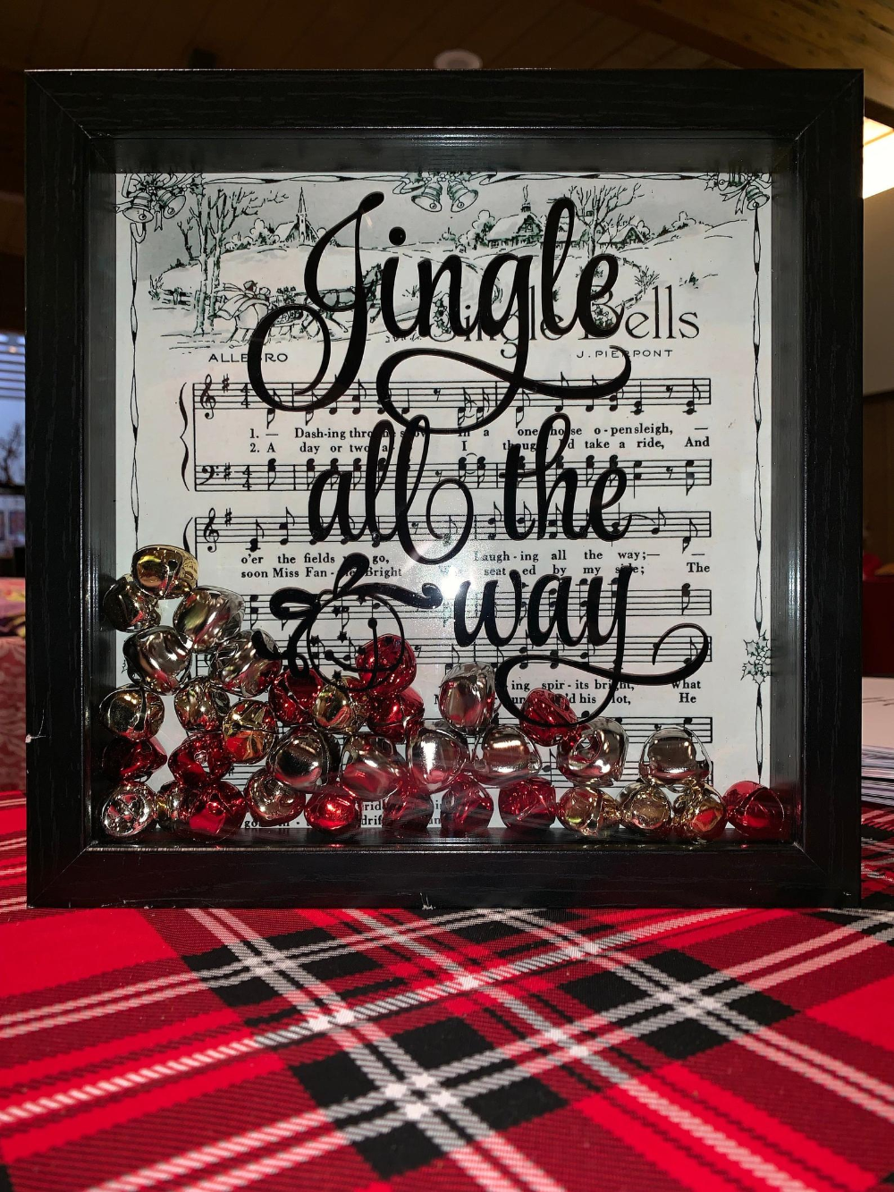 "Let It Snow /& Jingle All The Way 9""x9/"" Set Of 2 Christmas Signs"
