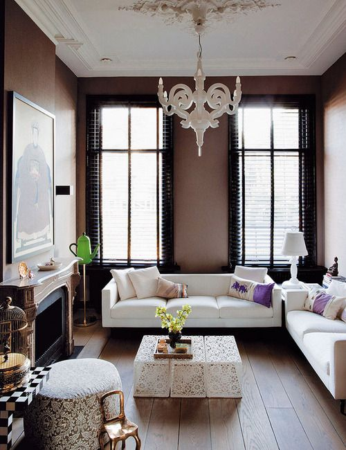 love the dark walls and black mullions always  big question if they work over time in this room think do netherlands homes moooi also best home decorating ideas images future house decor rh pinterest