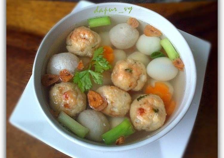Resep Sup Bakso Tahu Goreng Super Simple Oleh Dapurvy Resep Sup Bakso Resep Masakan Makanan Dan Minuman