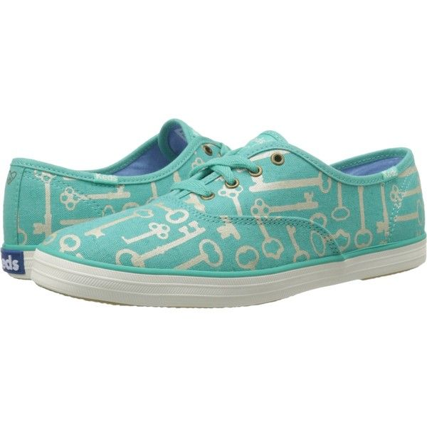 43fa3eebdf9 Keds Taylor Swift s Champion Key Print (Turquoise) Women s Lace up... (. Keds  ShoesKeds SneakersBlue ...