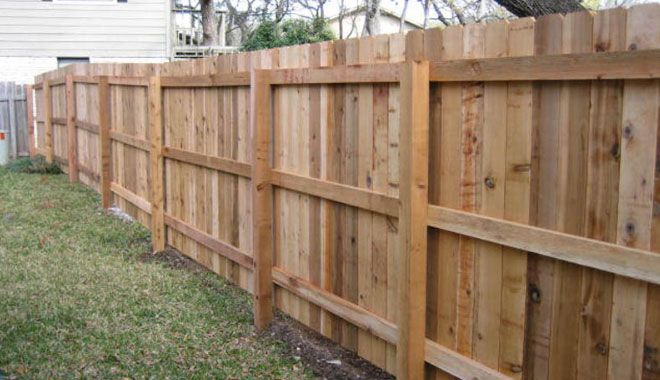 6 Foot Wood Privacy Fence All Cedar 3 Rail Outdoor