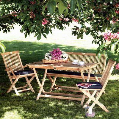 Sitzgruppe Milford von Ploss, Teakholz Gartenmöbel cafe