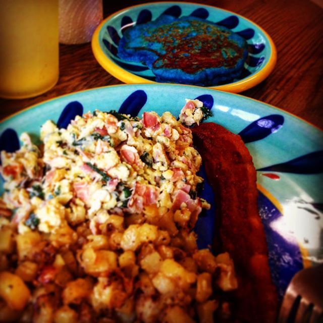 thanks to @madamezippy i am now stuffed... #breakfast #brunch #pancakes #hashbrowns #eggs #syrup #bacon #baconandeggs #baconbacon #food #foodporn #yum #yummy  Yummery - best recipes. Follow Us! #foodporn
