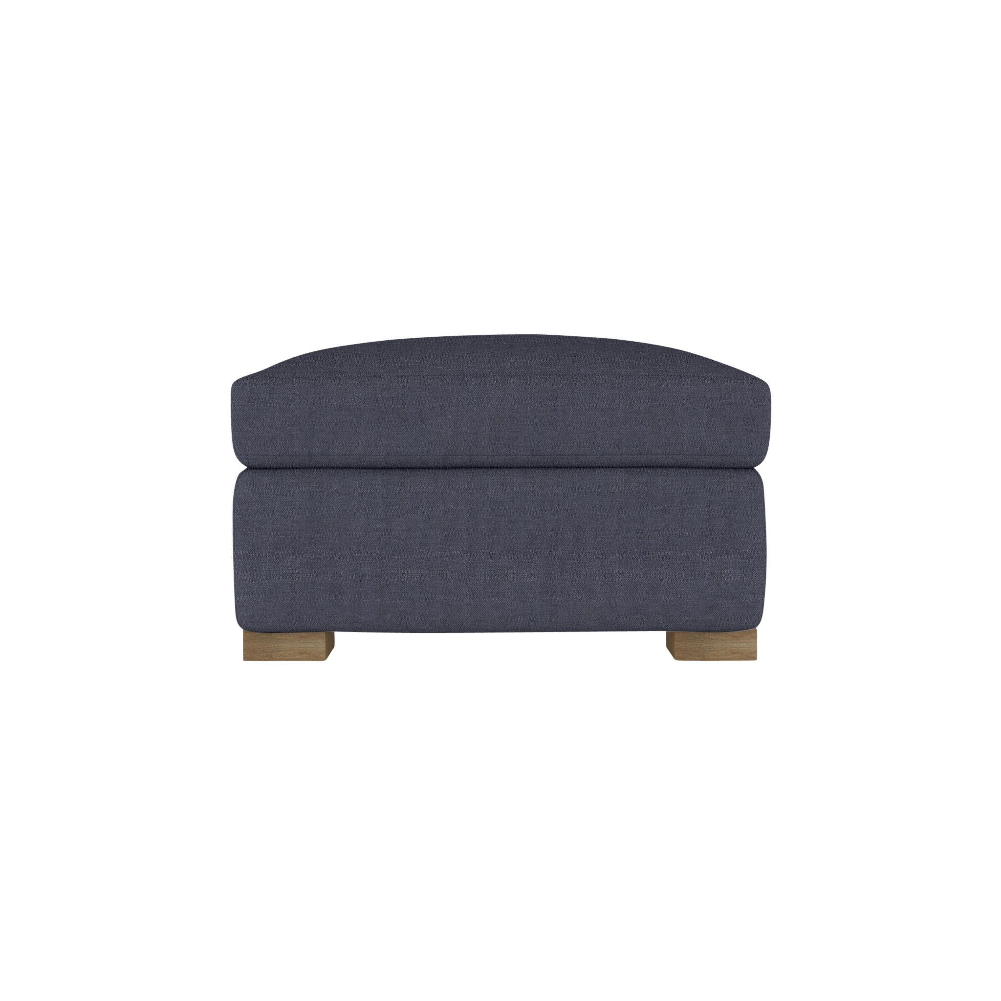 Horatio ottoman bluebell chambray ottomans and products