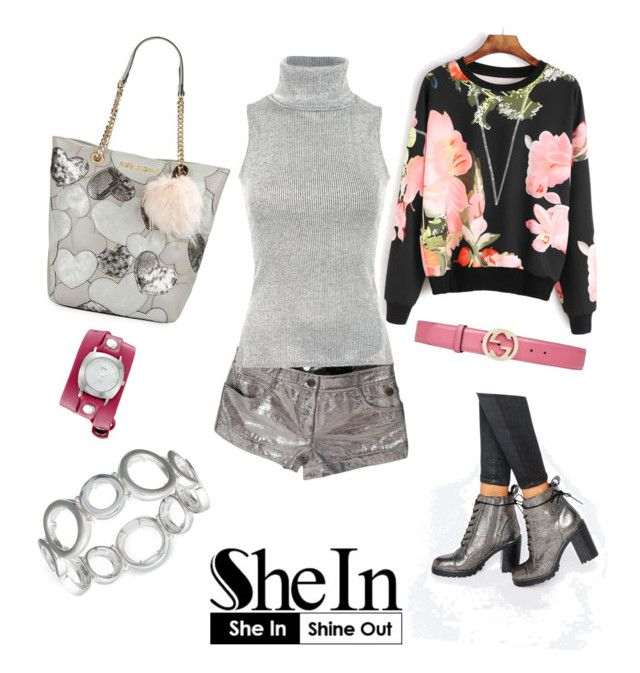 """""""she in shine out"""" by vicamici on Polyvore featuring Alexander McQueen, Pilot, Betsey Johnson, Office, Nine West, La Mer and Gucci"""