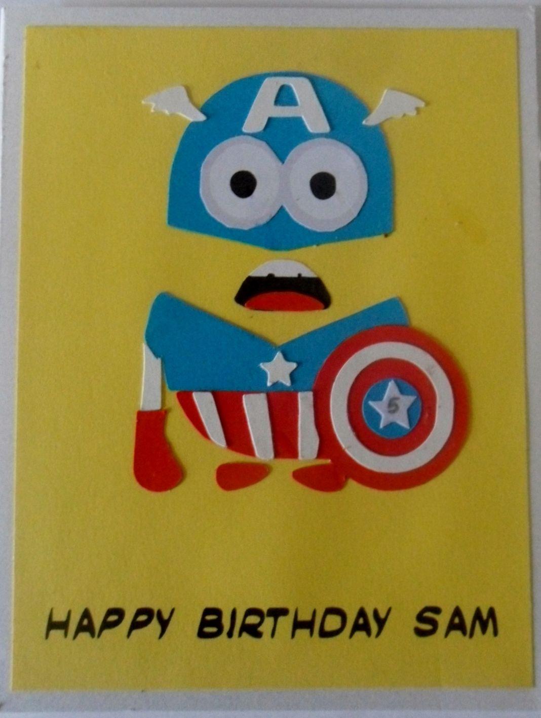 Pin By Musha Mushita On Card Making Minion Birthday Card Birthday Card Template Kids Birthday Cards