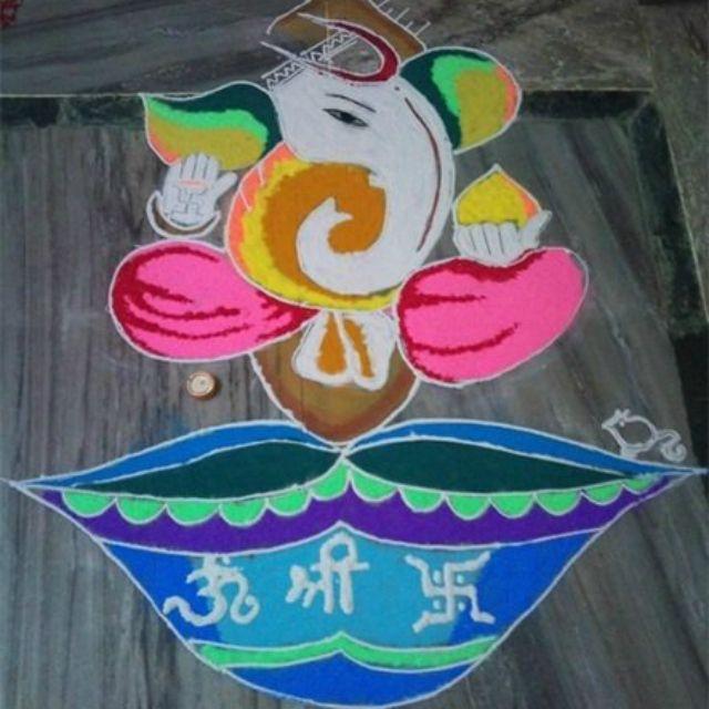 Pinterest also best ganesha rangoli designs ganpati for pooja ghar rh