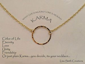 Circle of life meaning google search hair beauty pinterest gold plated karma necklace circle of life eternity unity love friendship chain aloadofball Image collections