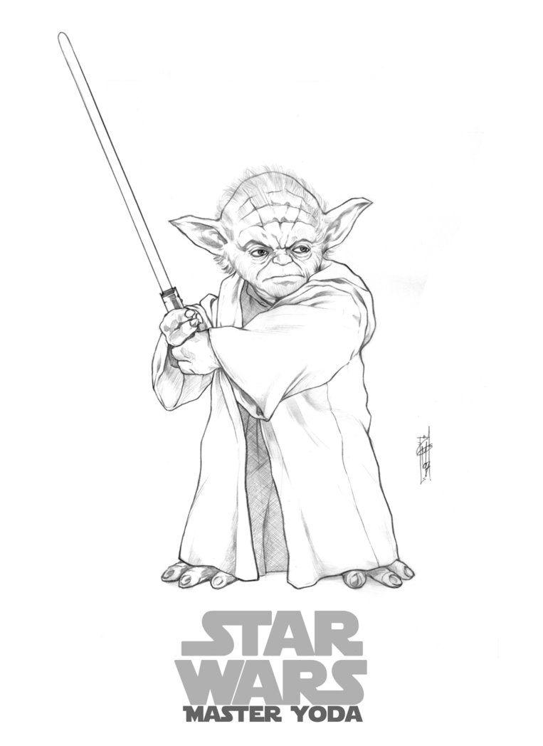 Yoda Star Wars Garrie Gastonny Dessins Star Wars Dessin