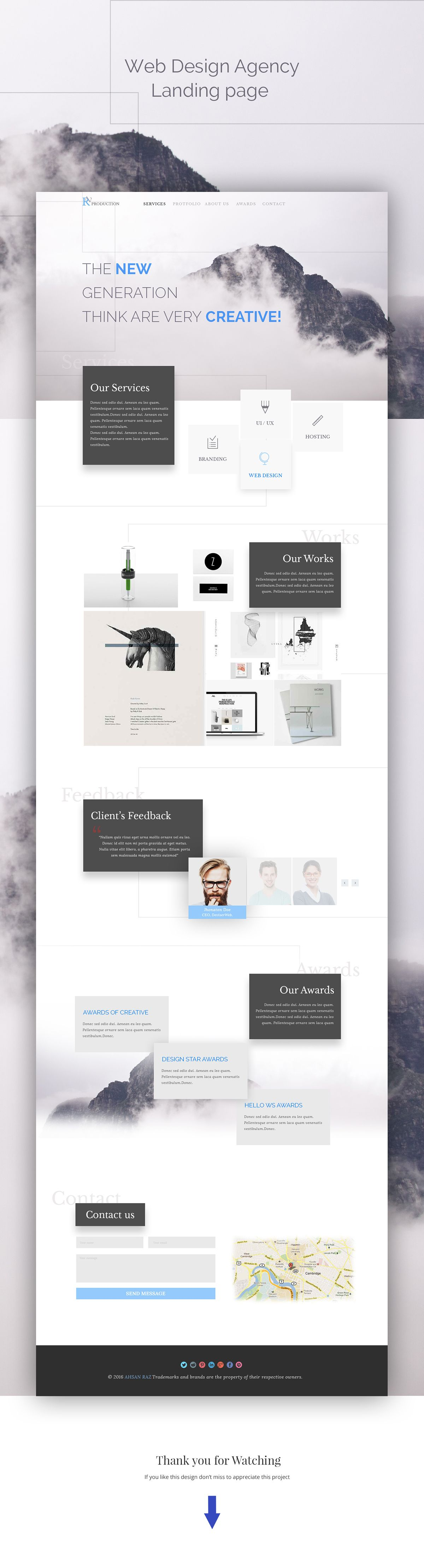Hi guys, This is another concept I did. simple home page template ...