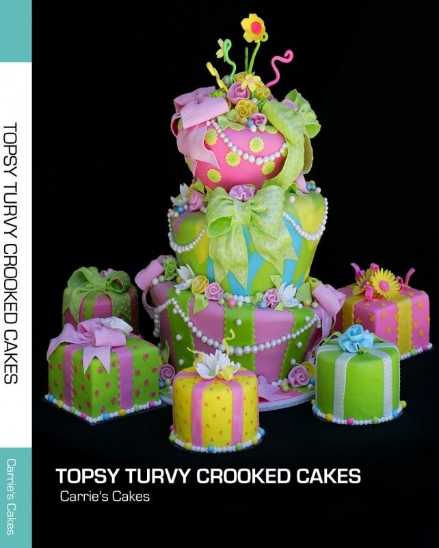 This is an extremely complicated cake From the topsyturvy to the