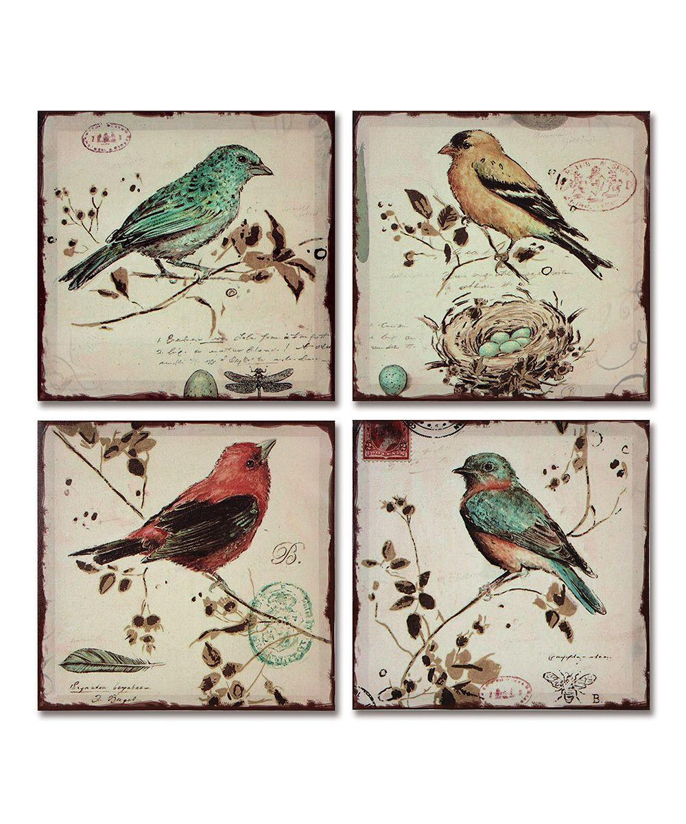 Bird Canvas Set