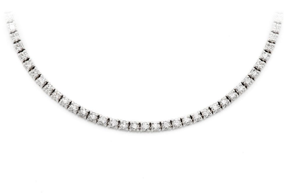 3pt Tennis Necklace 14k White Gold 6 17ctw Tennis Necklace Gold Grillz Necklace
