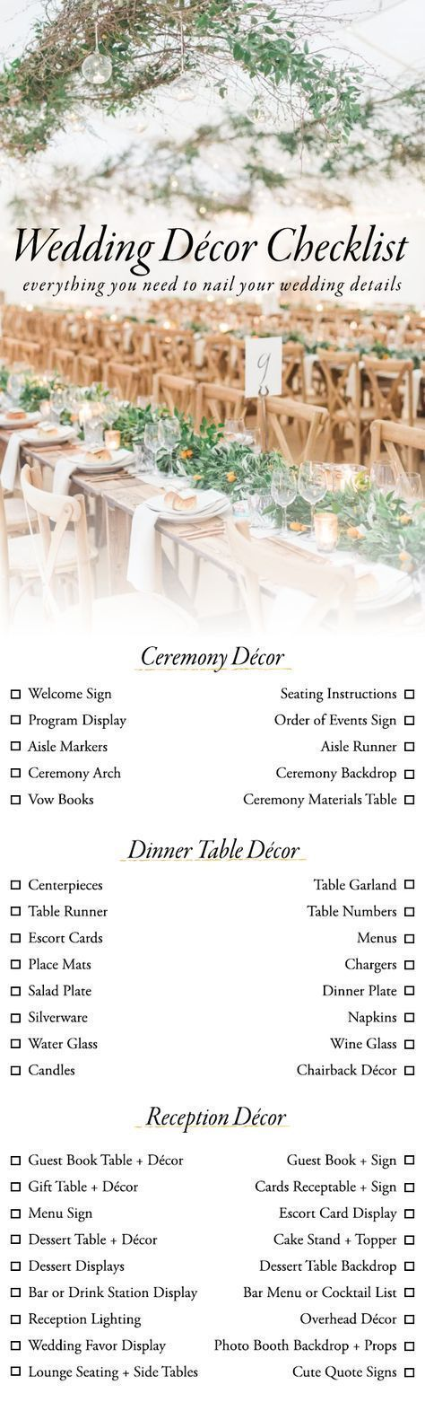 Designing your wedding can be a little overwhelming but our wedding designing your wedding can be a little overwhelming but our wedding dcor checklist is here junglespirit Image collections