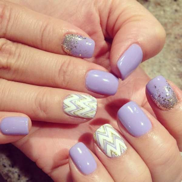 30 Cool Gel Nail Designs Pictures 2019 | Purple gel nails ...