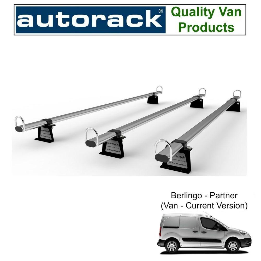 FIAT FIORINO Van Roof Rack 3 Bars 2008 onward AutoRack WorkReady