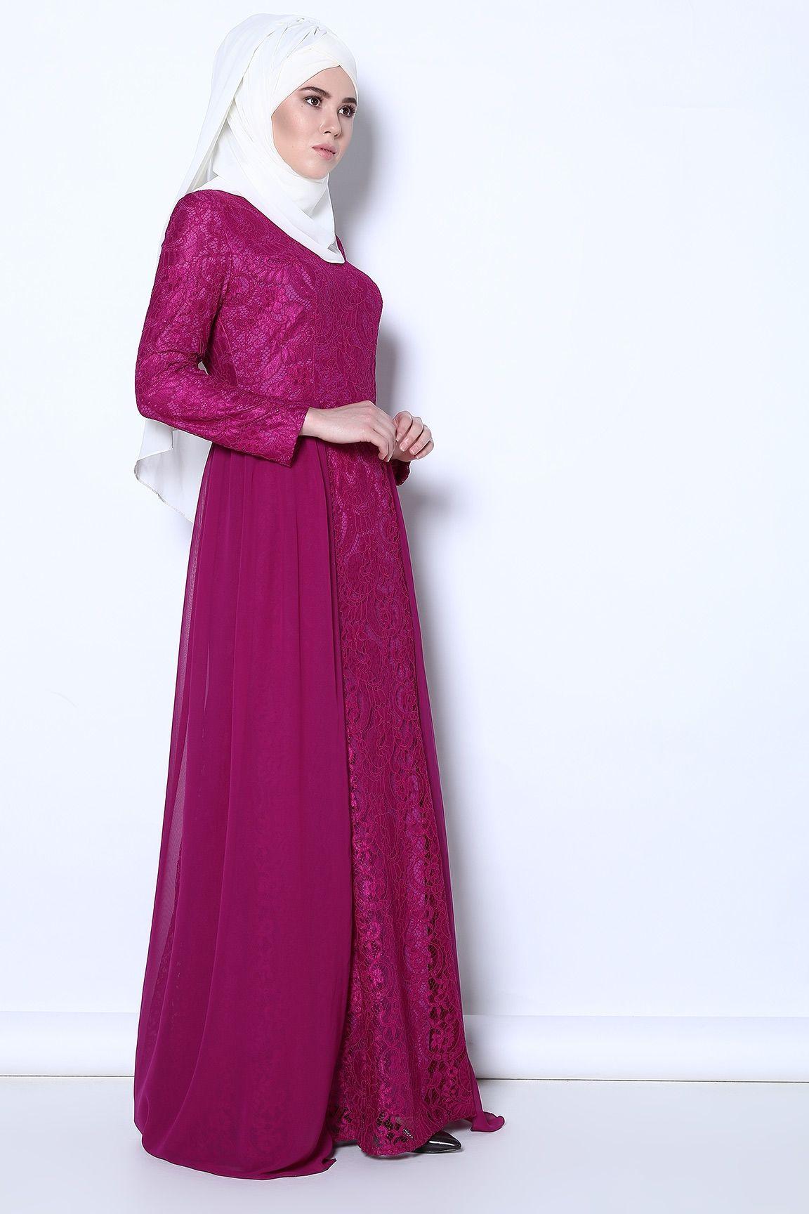 Pudra Sirt Fermuarli Dantelli Elbise Tozlugiyim Com Tr Elbise Modelleri Elbise Moda Stilleri