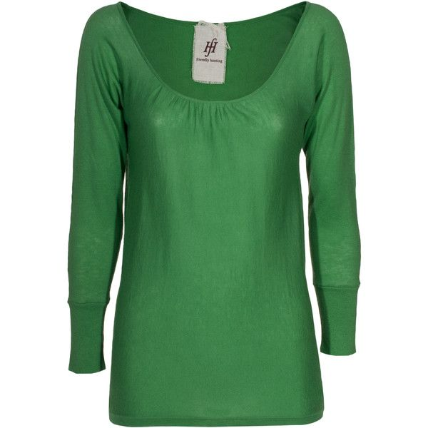 FRIENDLY HUNTING Malva Green Cashmere cotton pullover ($345) ❤ liked on Polyvore