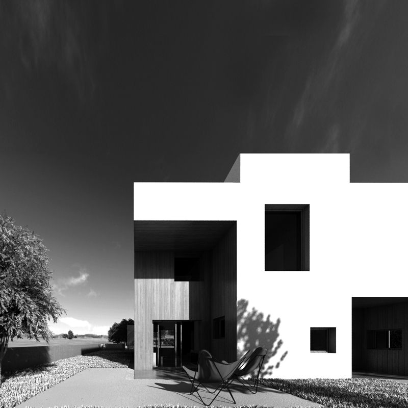 Cubic Housing Exterior Volume Lot Office For Architecture Architecture House Architecture Design Facade Design