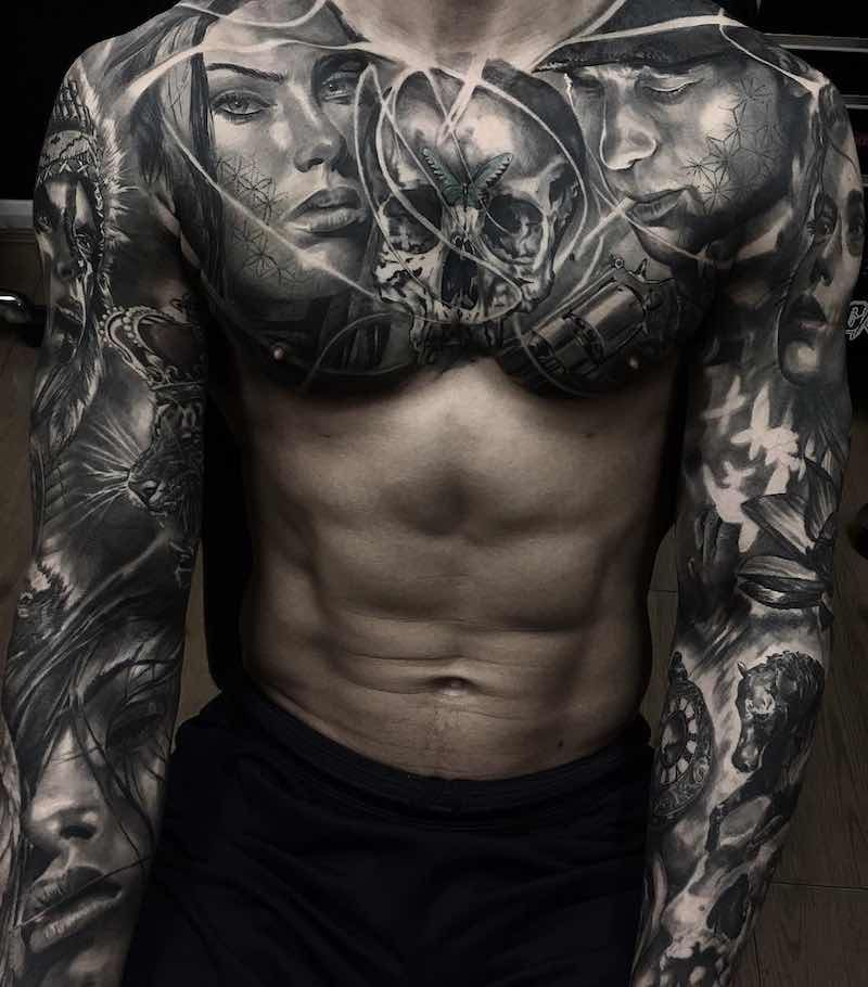 Chest Piece Tattoos, Tattoos For