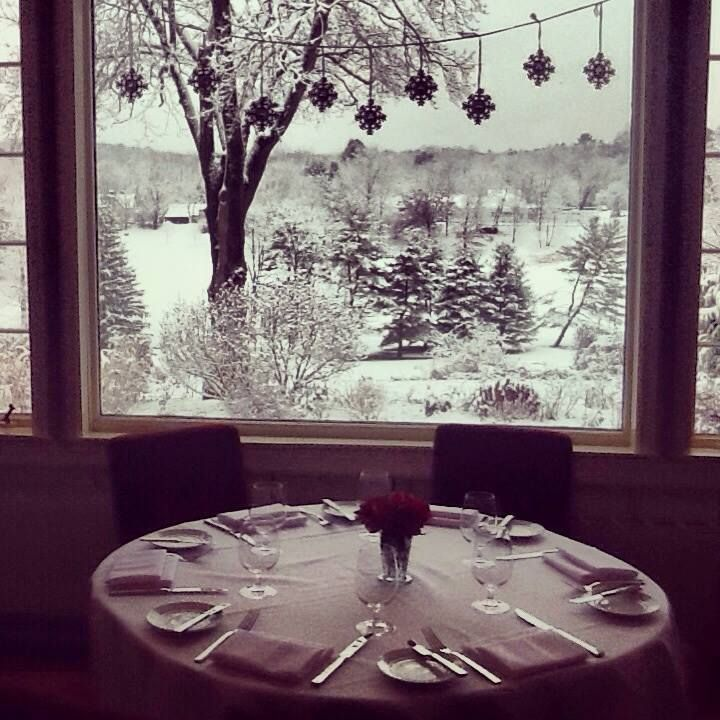 A Snowy View From The Kittle House Dining Room Where John And I Got Married