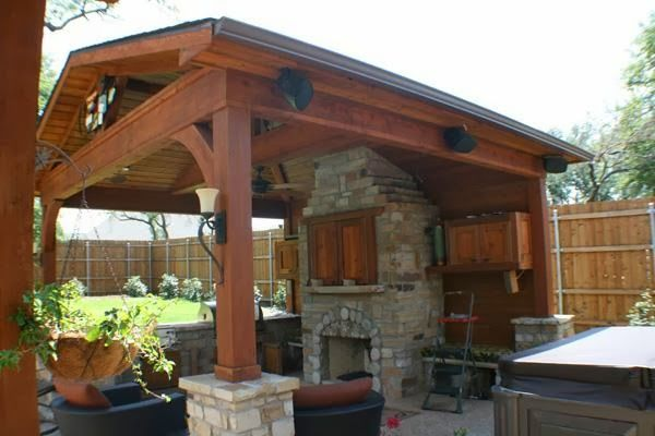 Free Standing Patio Cover Plans Outdoor Covered