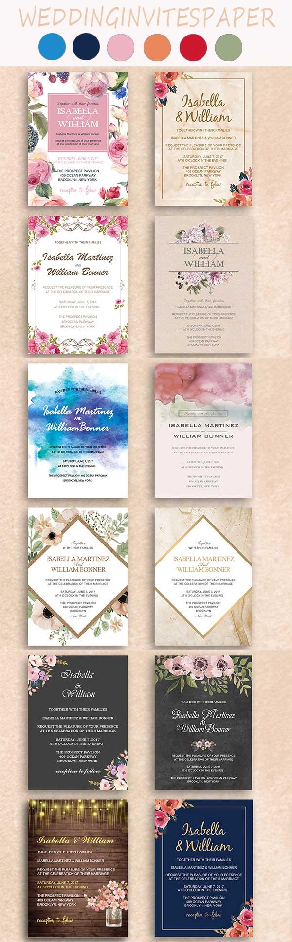 35 Unique Inexpensive Wedding Invitations From WIP - Wedding Invites ...