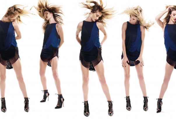 The Hadley Dress worn by Rosie Huntington-Whiteley in the latest edition of BazaarUK