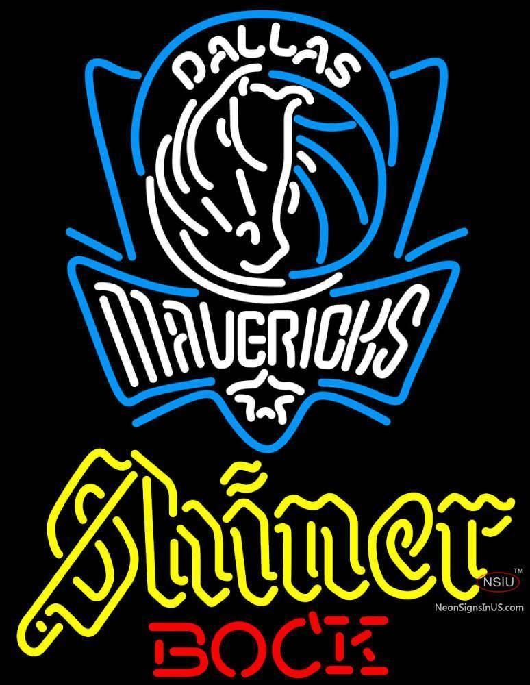 Shiner Dallas Mavericks NBA Neon Beer Sign Dallas