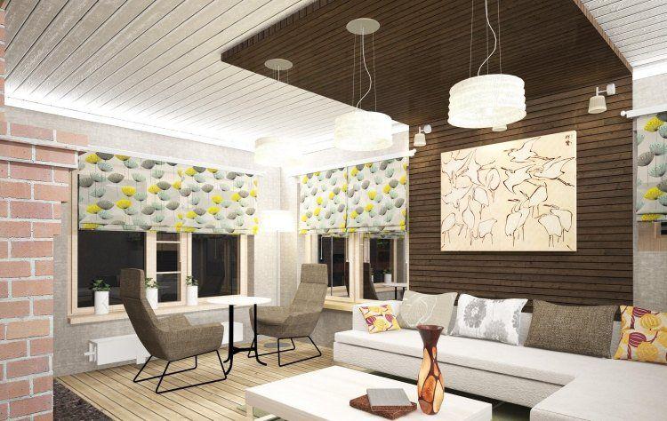 Salon design en 70 id es supers d 39 am nagement et for Lambris salon