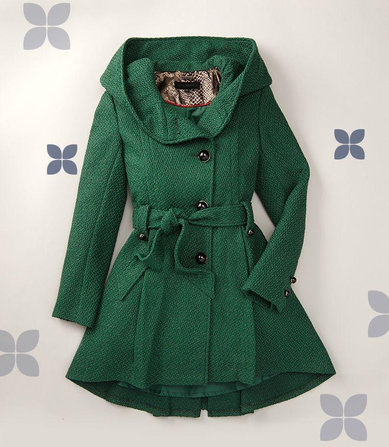 Green coat zulily ad