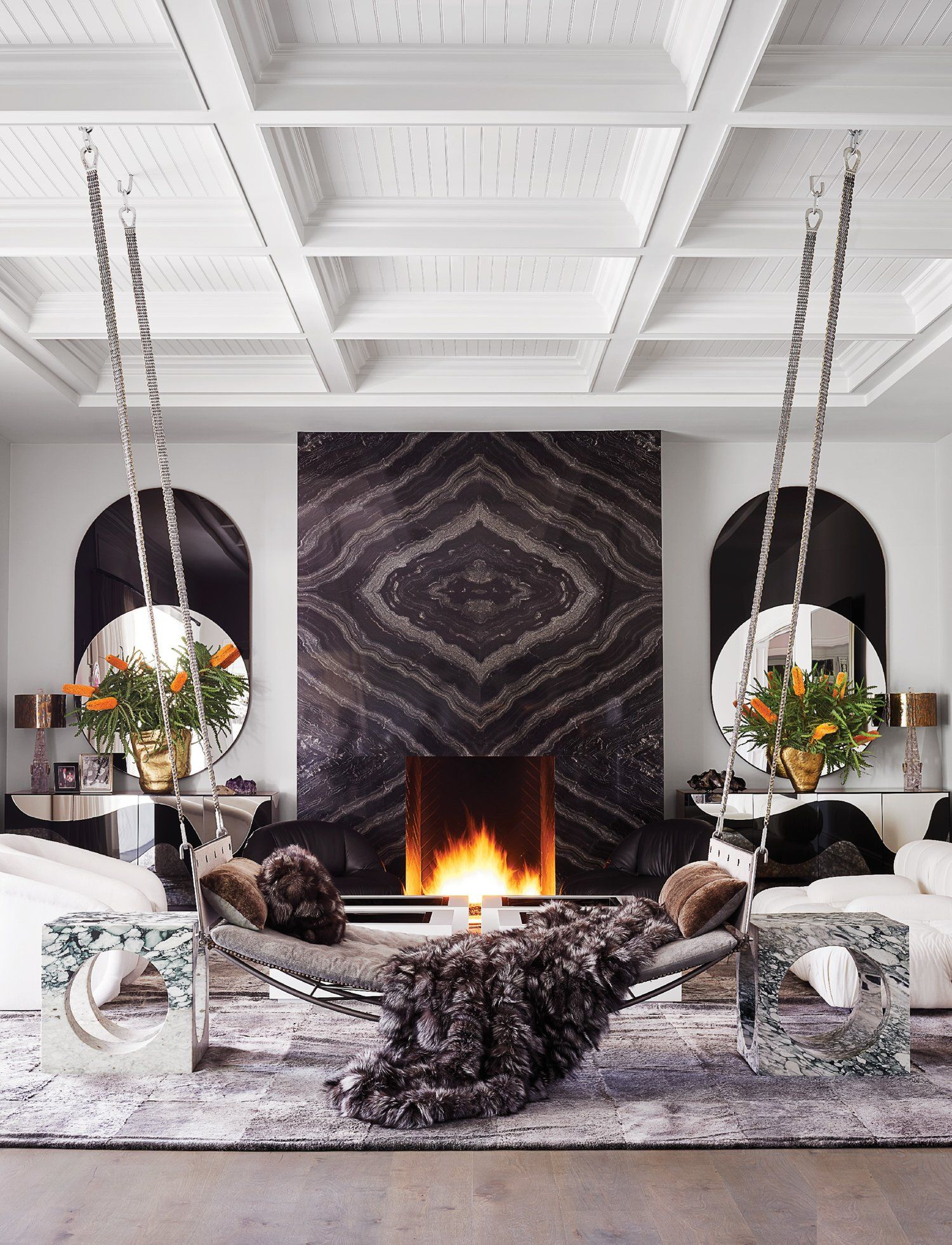 Chez Kylie Jenner Residence Design Project By Martyn Lawrence Aluminr Bespoke Luxury Metal Door Manufacturers Kylie Jenner Living Room Decor Modern Decor