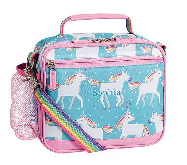 Mackenzie Aqua Unicorn Parade Lunch Box Pack Lunch Bags