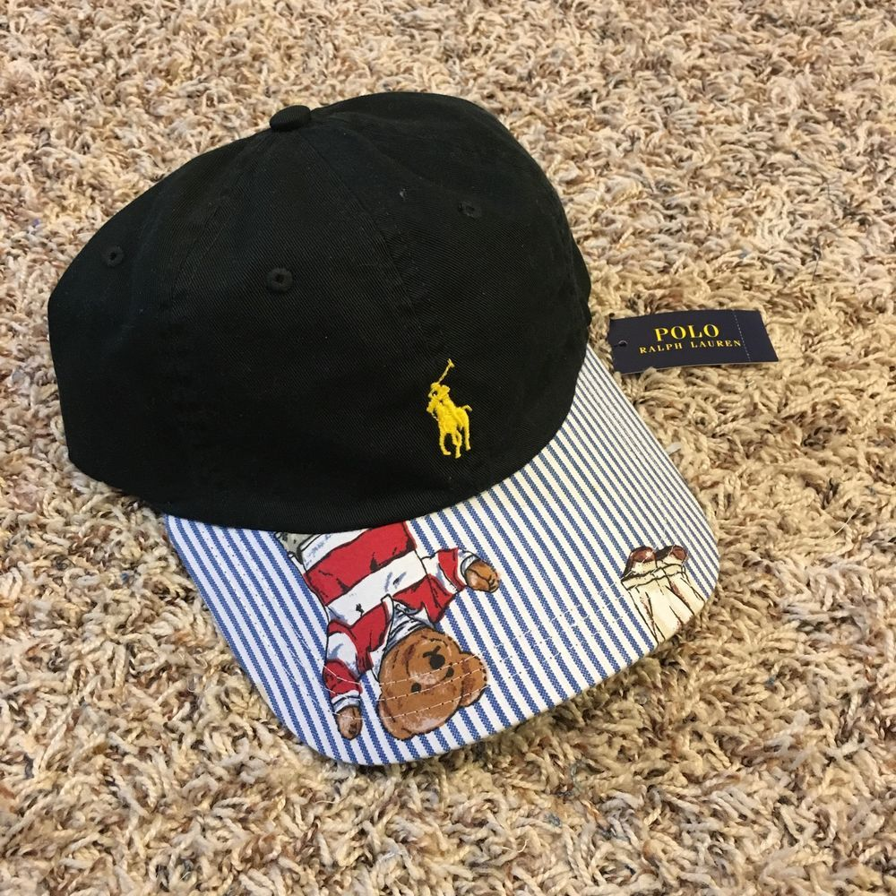 f580a0f5f6962 Brand New With Tags Dark Green Polo Hat Customized With Polo Bear